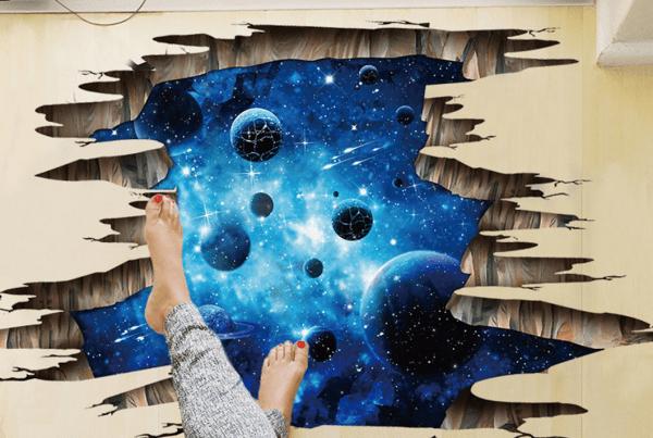 3d wall art sticker cosmic space